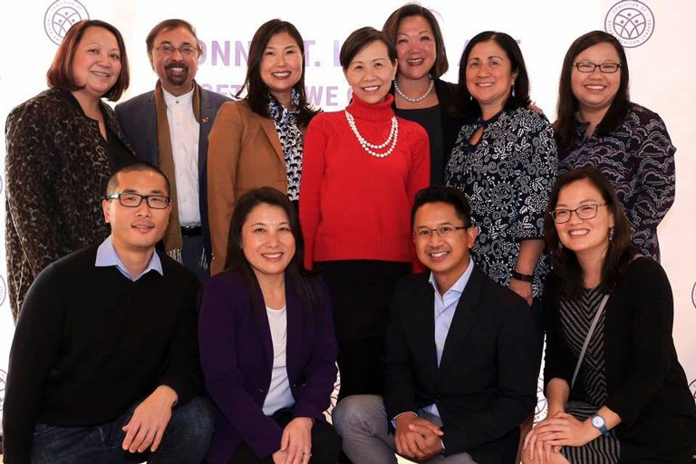 Group photo of board of directors for Coalition of Asian American Leaders.