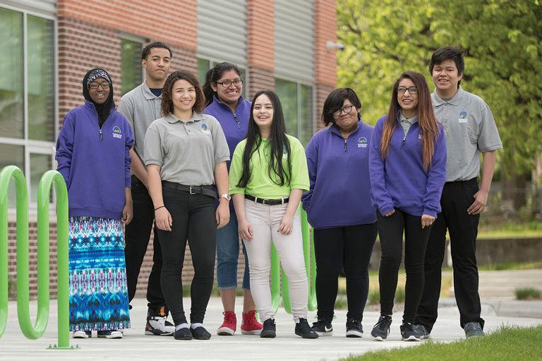 Summer Scholars - eight students - by Hiawatha Academy's charter school.