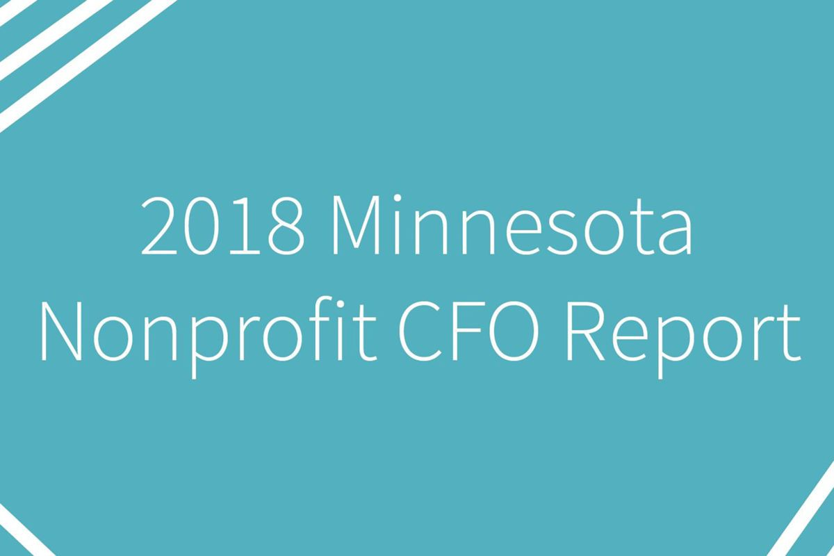 2018 Minnesota Nonprofit CFO Report cover