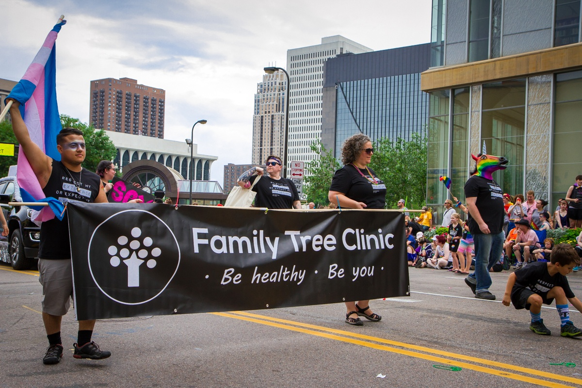 Family Tree Clinic marching in parade