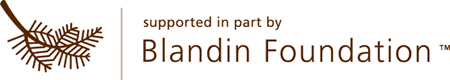 """Blandin Foundation logo reading """"supported in part by Blandin Foundation"""""""