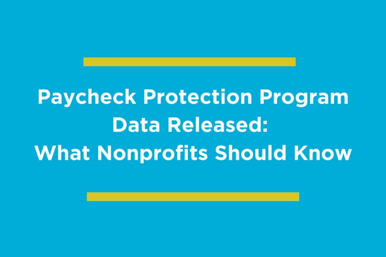 PPP Data Releaded: what nonprofits should know
